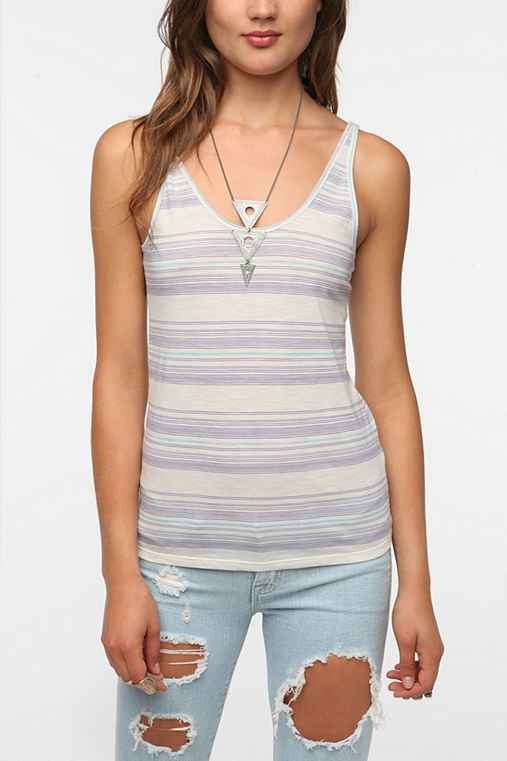 BDG Striped Lightweight Slub Knit Cami
