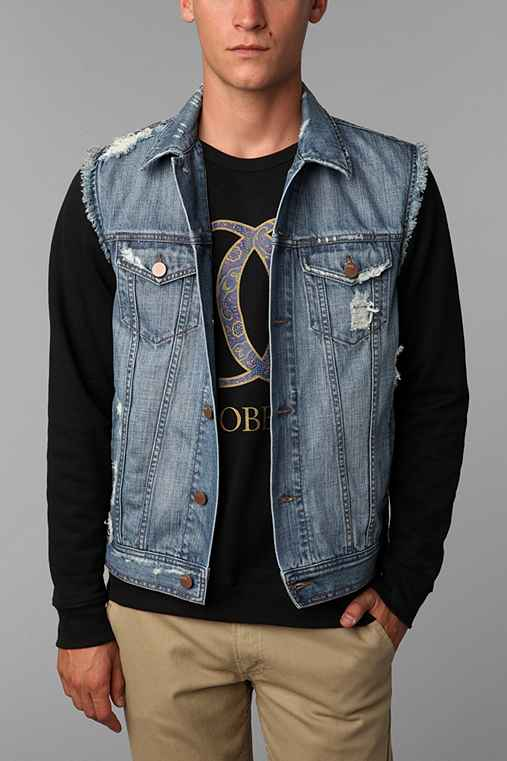 Standard Cloth Destroyed Denim Vest
