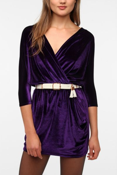 Urban Renewal Velvet Surplice Dress