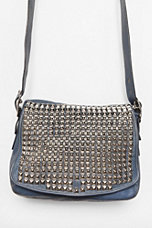 Vintage Blue Studded Coach Bag