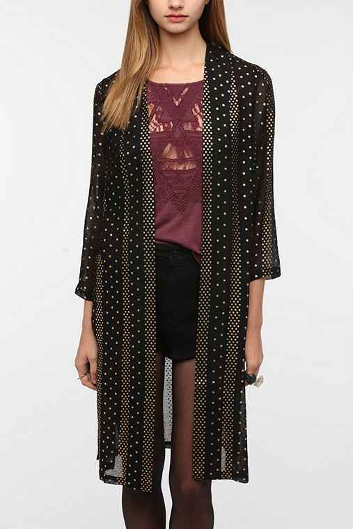 Ecote Side Split Duster Jacket