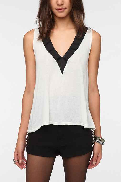Daydreamer LA Deep-V Neck Tux Tank Top