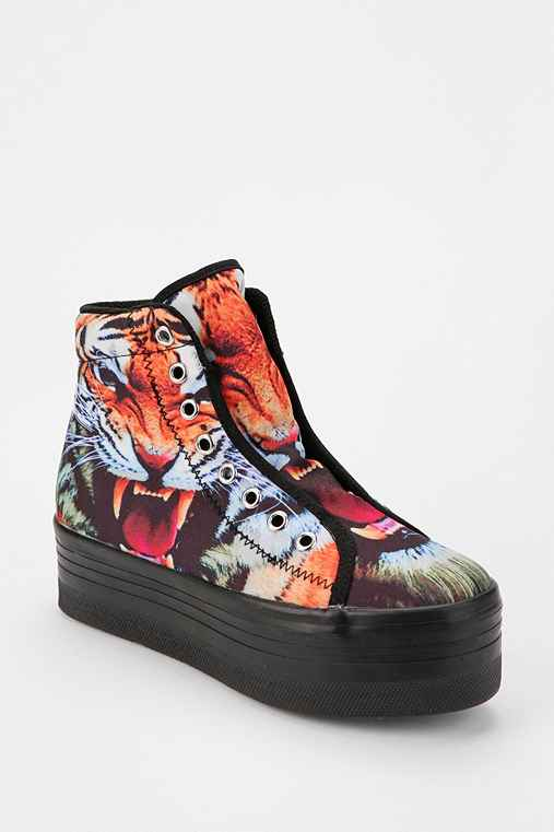 Jeffrey Campbell HOMG Tiger High-Top Flatform-Sneaker