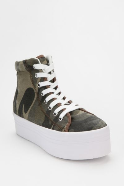 Jeffrey Campbell HOMG Camo High-Top Flatform-Sneaker