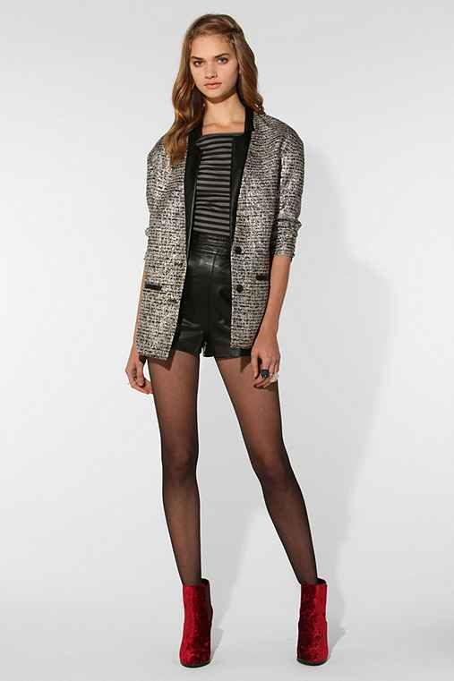 CÖ Metallic Tweed Oversized Blazer