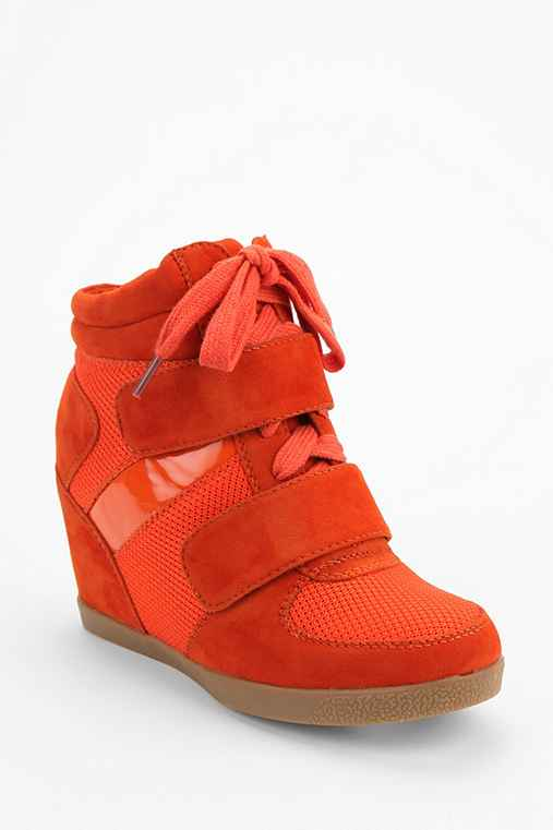 Wanted Tonal Suede High-Top Wedge-Sneaker