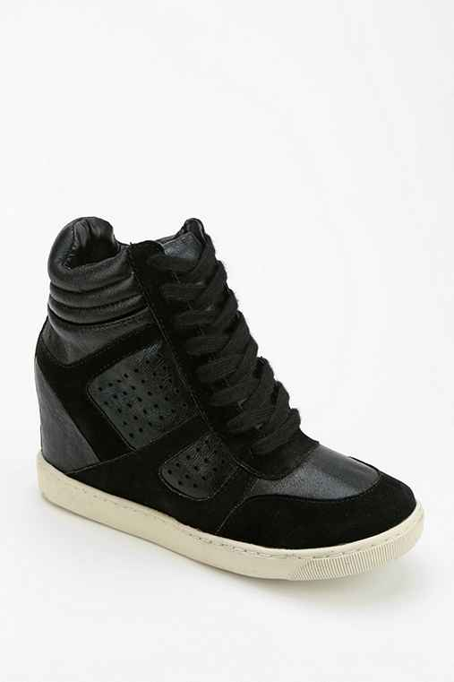 Wanted Metallic High-Top Wedge-Sneaker