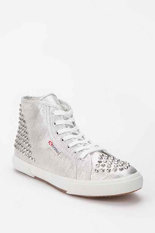 Superga Glitter Stud High-Top Sneaker