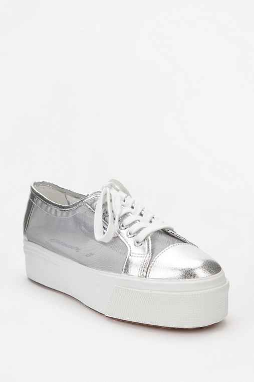 Superga New Metallic Flatform-Sneaker