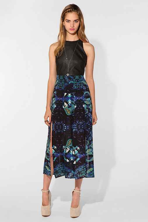 Shakuhachi X UO Faux Leather Bodice Maxi Dress