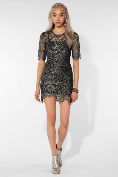 Shakuhachi X UO Platinum Lace Dress