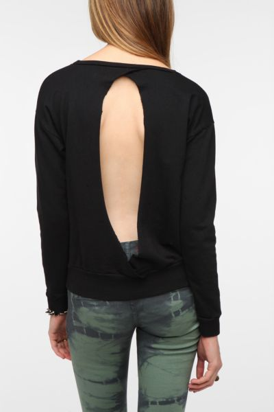 Sparkle & Fade Slit-Back Sweatshirt