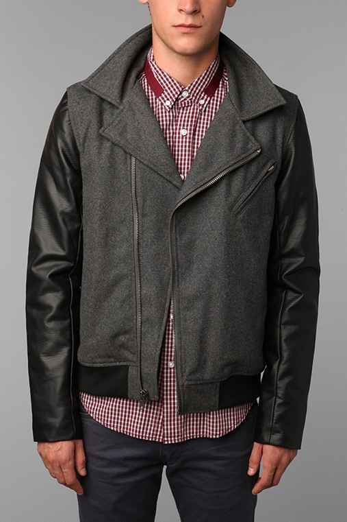 Charles & 1/2 Mixed Moto Jacket