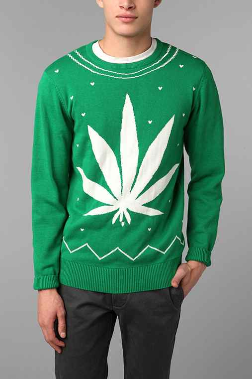 Cannabis Leaf Sweater
