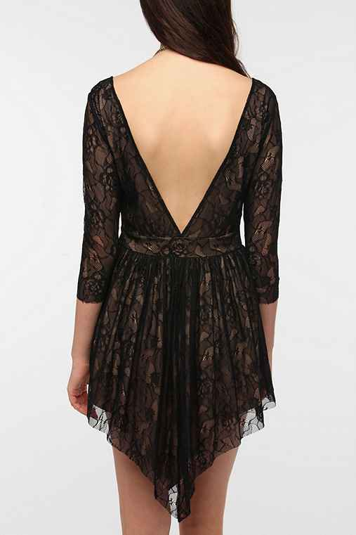 Lovers & Friends Senorita Lace V-Back Dress