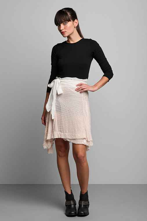 Luxury Jones for Urban Renewal Ivory Beaded Wrap Skirt