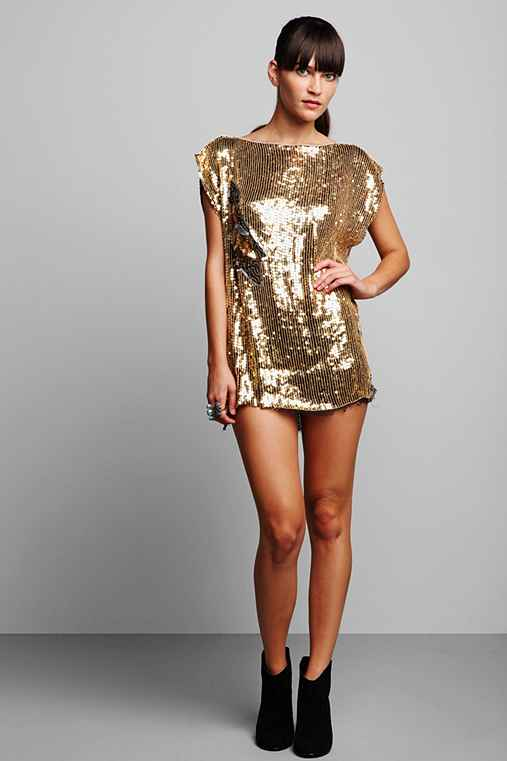 Luxury Jones for Urban Renewal Gold Sequined Dress