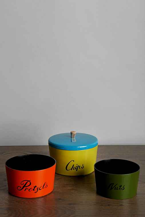 Vintage Snack Canister - Set of 3
