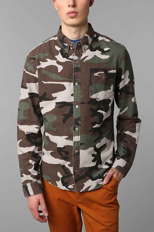 Charles & 1/2 Woodland Camo Oxford Shirt