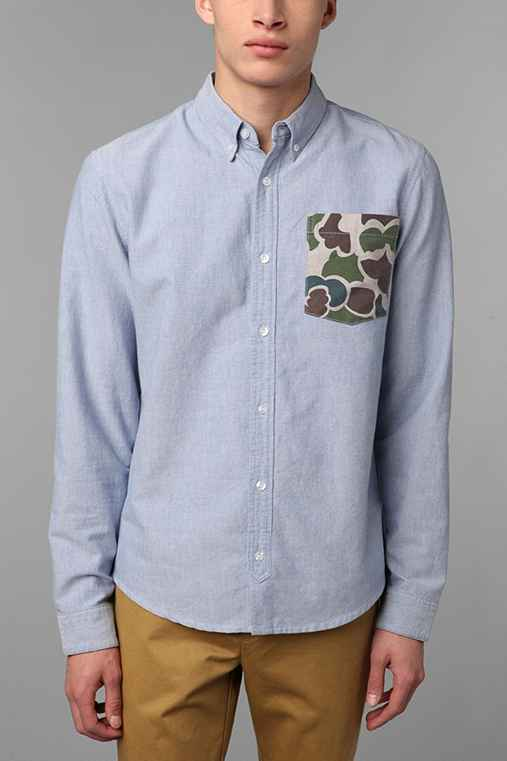 Charles & 1/2 Duck Camo Pocket Oxford Shirt