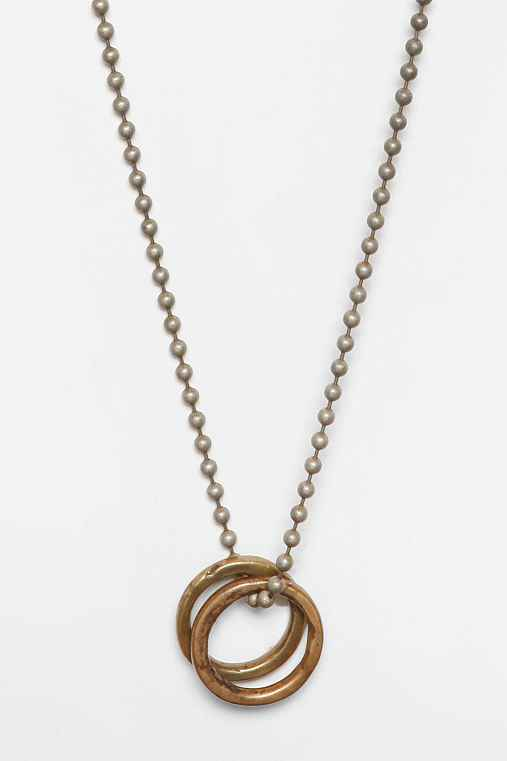 Love Smith x Urban Renewal Two Rings Necklace