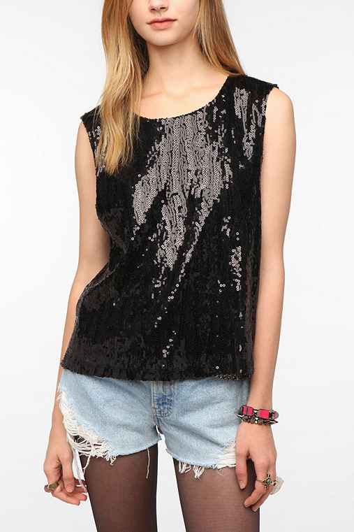 Sparkle & Fade Sequin Muscle Tee