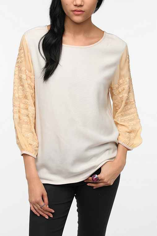 Staring at Stars Embellished-Sleeve Blouse