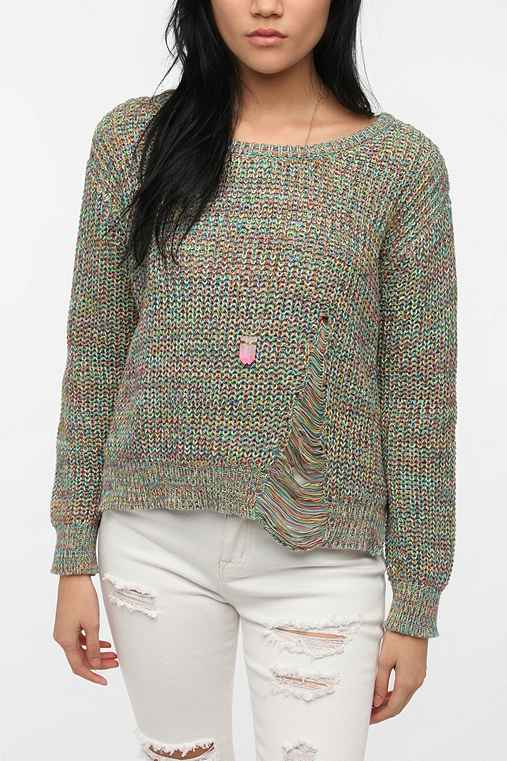 Staring at Stars Rainbow Marl Pullover Sweater