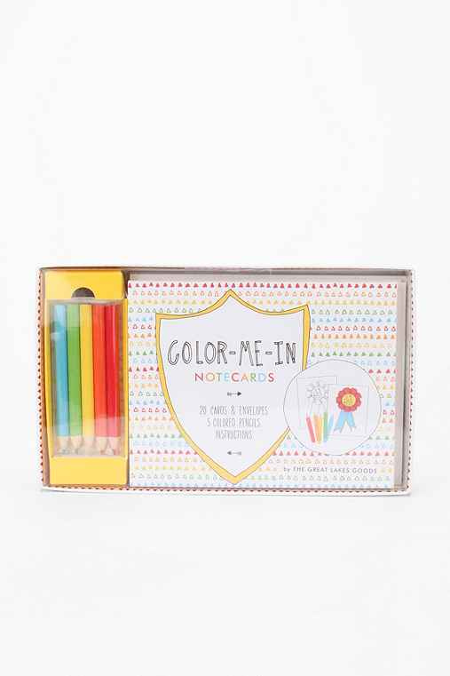 Color-Me-In Notecard Stationery Set
