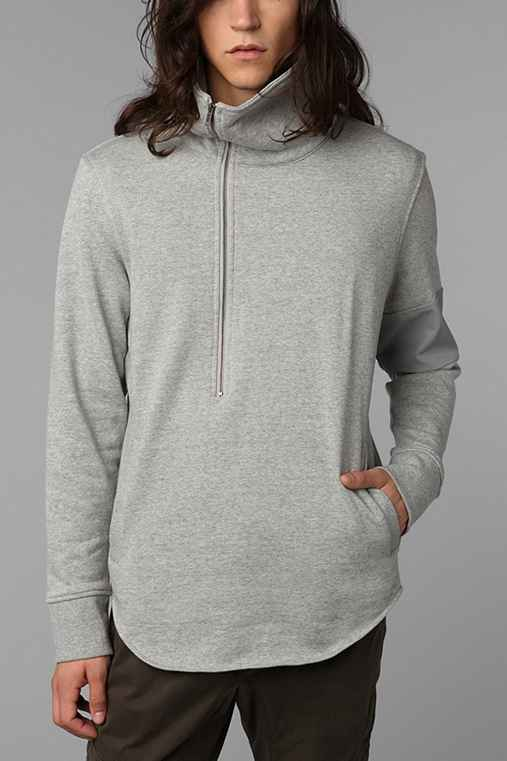 B:SCOTT Asymmetrical Mock Zip Sweatshirt