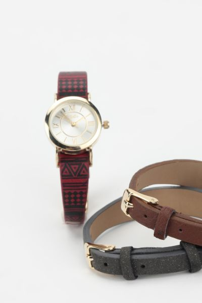 Interchangeable Strap Watch - Set of 3
