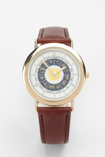 Horoscope Leather Watch