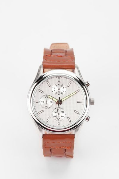 Woven Leather Watch