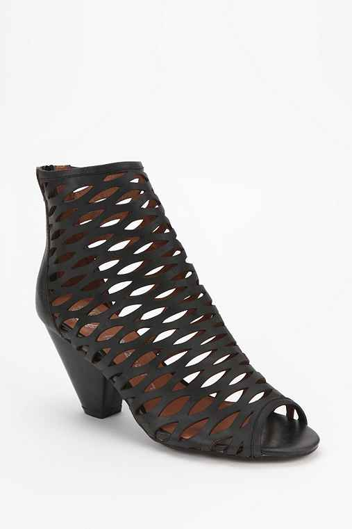 Jeffrey Campbell Cutout Peep-Toe Ankle Boot