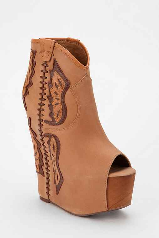 Jeffrey Campbell Gardea Leather Platform Wedge Ankle Boot