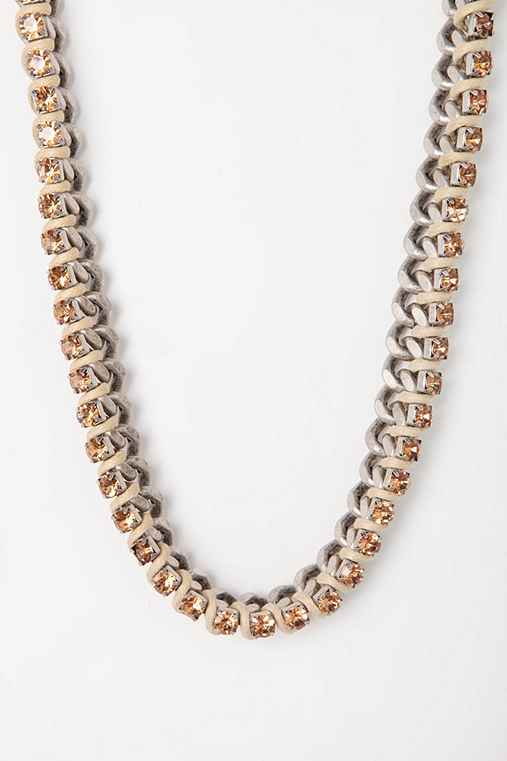 Corbet Rhinestone & Chain Necklace