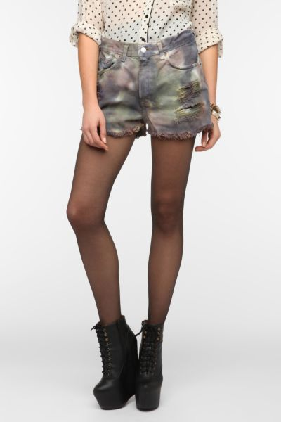 Urban Renewal Camo Dyed Denim Short