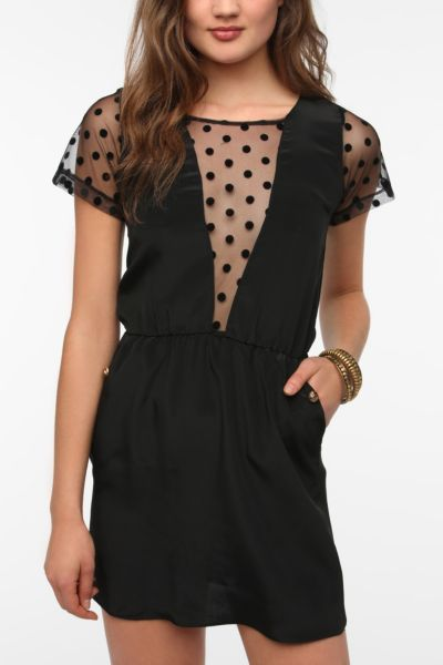 Johann Earl Polka Dot Sleeve Dress
