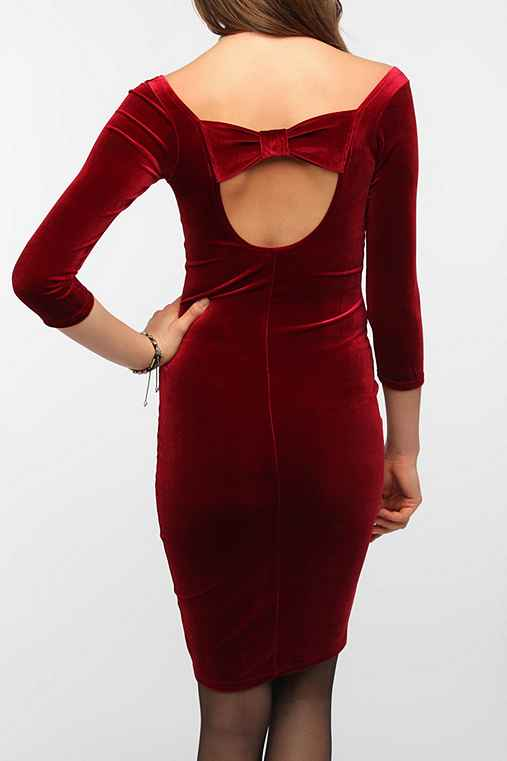 Johann Earl Velvet Bow Dress