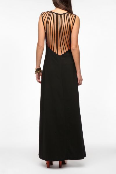 KNT By Kova & T Strappy Maxi Dress