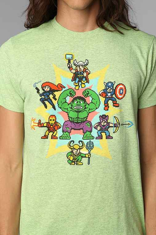 Pixelated Avengers Tee