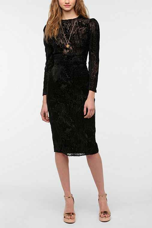 KNT By Kova & T Burnout Velvet Dress