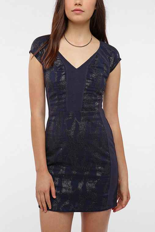 Staring at Stars Jacquard Inset Bodycon Dress