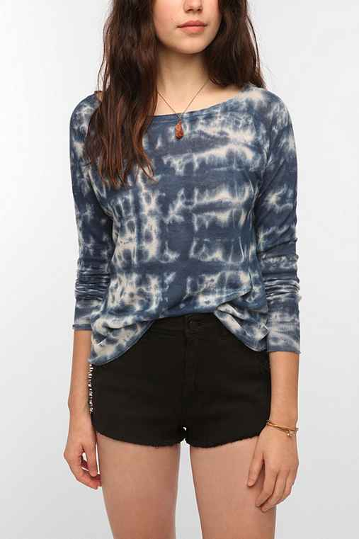 Sparkle & Fade Lightweight Linen Tie-Dye Sweater