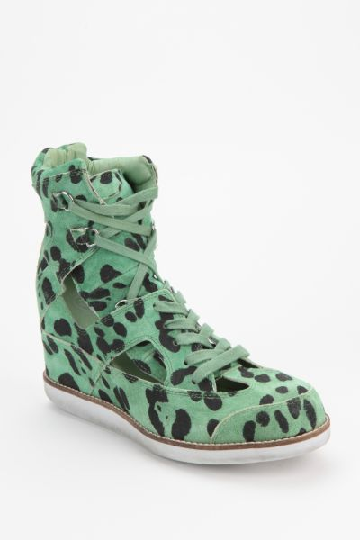 Jeffrey Campbell Padua Cutout Animal Print High-Top Sneaker