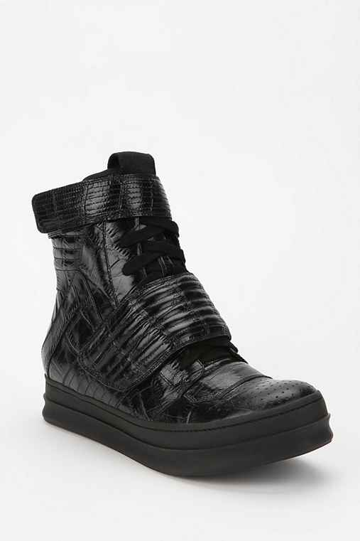 Jeffrey Campbell Bones Leather High-Top Sneaker