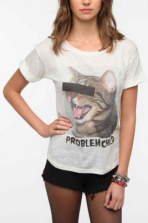 Workshop problem child tee urban outfitters for Lucky cat shirt urban outfitters