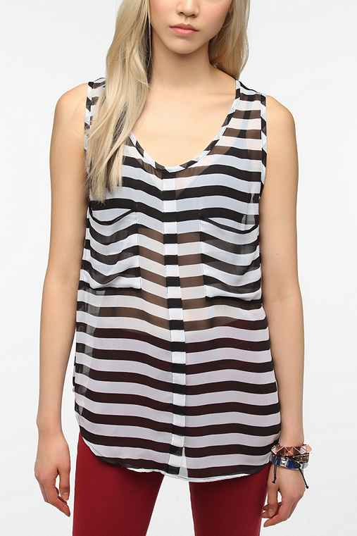 BB Dakota Kellyn Striped Tank Top