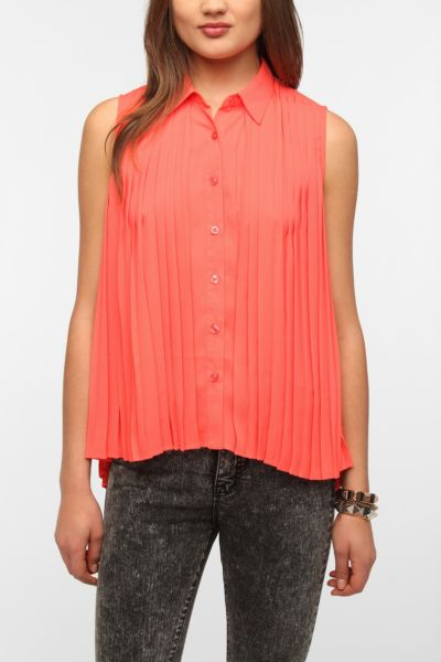 Sparkle & Fade Accordion Pleated Blouse