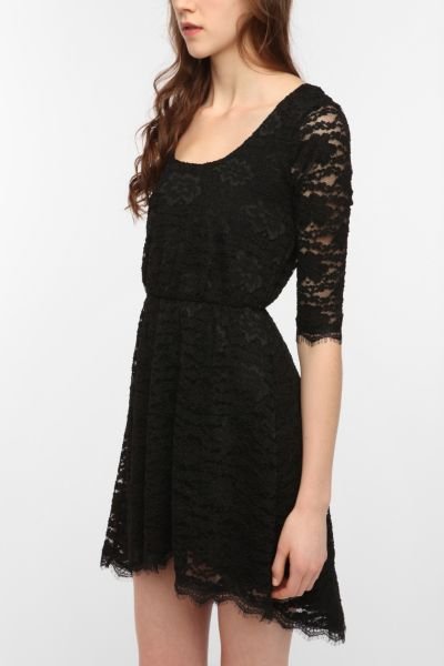 Pins and Needles Lace High/Low Dress